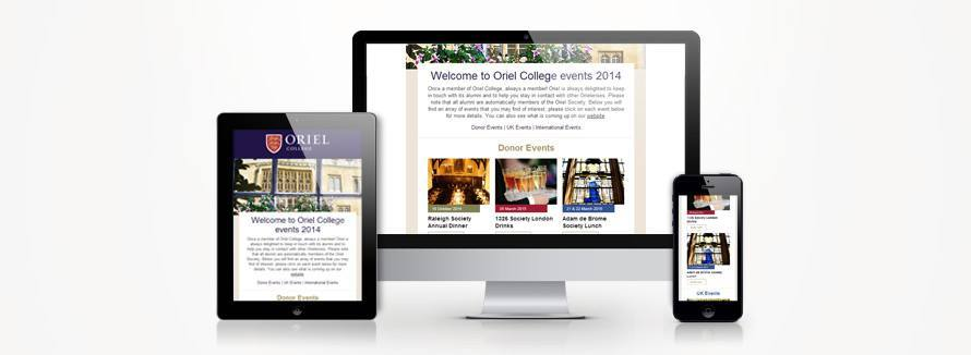 Oriel College responsive email templates