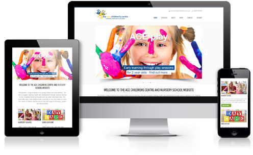 ACE responsive web design