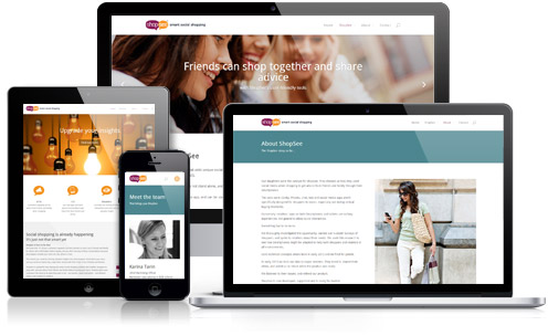 ShopSee responsive web design